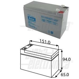 alpha elettronica batteria al piombo agm 12v 9ah faston 6,3 bp12-10/6,3