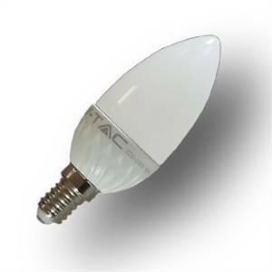 v-tac lampadina candela led 6w attacco e14 luce calda 4215