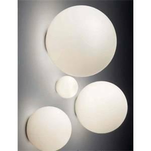 artemide artemide lampada dioscuri da parete e soffitto bianca diametro 42cm lampadina attacco e 27 0117010a