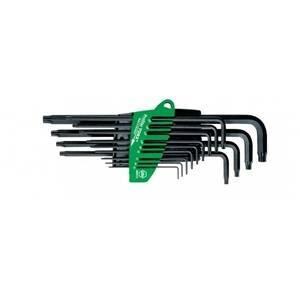 wiha set di 13 chiavi torx fosfatate in acciaio al cromo vanadio 24312