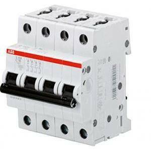 abb interruttore magnetotermico 4p 10a 6ka s 204-c10 2cds254001r0104 s529198