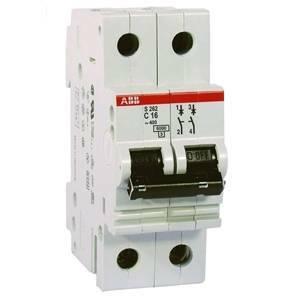 abb interruttore magnetotermico 2p 16a 10ka s 202 m-c16 2cds272001r0164 s5503007