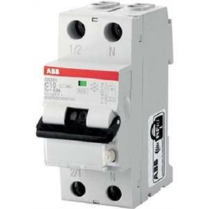 abb interruttore magnetotermico differenziale 1p+n 10a 6ka 30ma ds201 c10 ac30 2csr255040r1104 ds1c10ac30