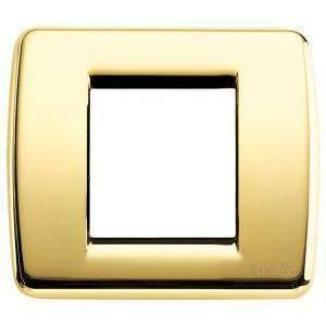 vimar vimar placca rondo 1-2 moduli oro lucido serie idea 17093.32