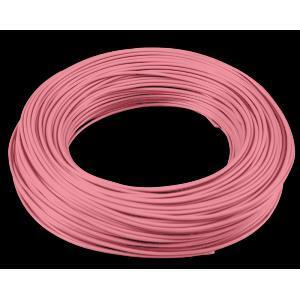 cavi 200 metri di cordina unipolare sezione da 0.5mm colore rosa h05v0,5ro/b200