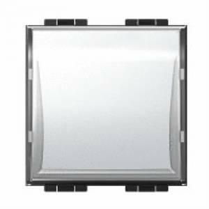 bticino livinglight pulsante con targa portanome ln4040