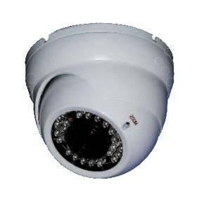 eurotek telecamera dome antivandalo a colori videosorveglianza infrarosso 20m vcdwd7