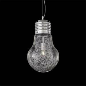 ideal lux lampada a sospensione luce max sp1 big 60w attacco e27 33662