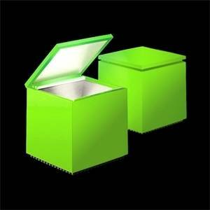 cini&nils lampada da tavolo cuboled 2w flash verde 248l