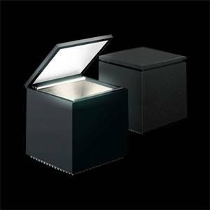 cini&nils lampada da tavolo cuboled colore nero 2w luce calda 138l