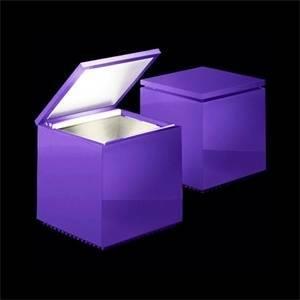cini&nils lampada da tavolo cuboled colore viola 2w luce calda 141l