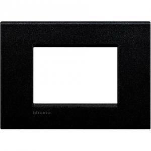 bticino livinglight air placca 3 moduli colore nero lava lnc4803nl