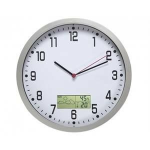 valex orologio parete cromo con meteo digitale 1870027