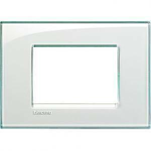 bticino livinglight placca 3 moduli colore acquamarina lna4803ka