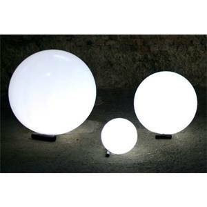slide globo luminoso da giardino diametro 40cm base inox lp-sff040