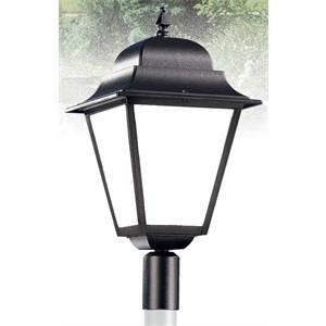 nobile illuminazione testa palo quadra per palo 60mm nera 2053/25/ne