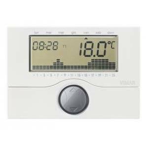 vimar vimar cronotermostato elettronico a parete batteria bianco 01910
