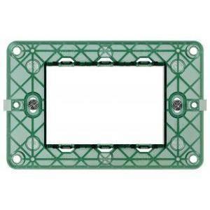vimar plana supporto con viti 3 moduli verde 14613