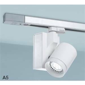 nobile illuminazione nobile illuminazione proiettore led orientabile per installazione su binario eurostandard 15w luce calda 3000k in alluminio colore bianco 12w 3000 a5