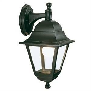 sovil lampada miniquadra in basso da giardino nera 953/06