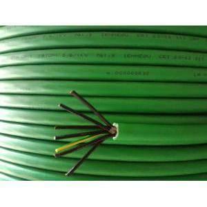 cavi al metro cavo elettrico multipolare fg7om1  7gx1.5, 7 conduttori con sezione da 1.5mm con giallo verde