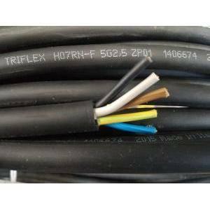 cavi al metro cavo neoprene h07rnf 5gx2,5, 5 conduttori con sezione da 2,5 mm, con giallo verde colore nero  h07rnf-5gx2,5