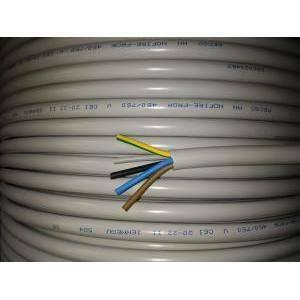 cavi al metro cavo nofirlef 300/500v 5 conduttori da 4 mm di sezione con giallo verde nofirefl-5x4