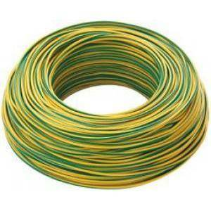 cavi 200 metri cordina unipolare sezione 1mm colore giallo verde n07v1gv/b200
