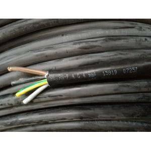 cavi al metro cavo neoprene h07rnf 4gx4, 4 conduttori con sezione 4 mm, con giallo verde colore nero h07rnf-4gx4