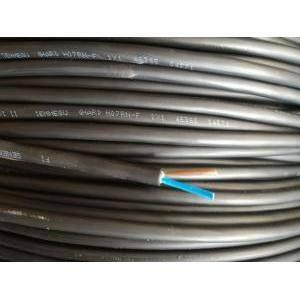cavi al metro cavo neoprene h07rnf 2x1, 2 conduttori con sezione da 1 mm, senza giallo verde colore nero h07rnf-2x1