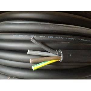 cavi al metro cavo neoprene h07rnf 4gx6, 4 conduttori con sezione da 6mm,  con giallo verde colore nero h07rnf-4gx6