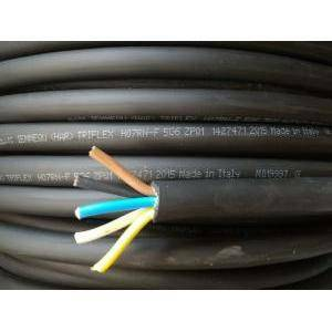 cavi al metro cavo neoprene h07rnf 5gx6, 5 conduttori con sezione da 6 mm, con giallo verde colore nero h07rnf-5gx6