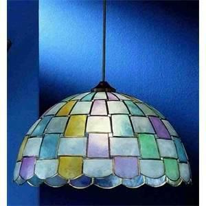 perenz perenz lampadario a sospensione madreperla multicolore pendel oro h5471