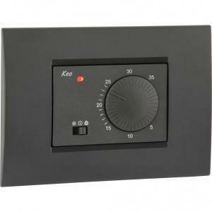 vemer termostato keo-a elettronico a incasso con selettore vn171500
