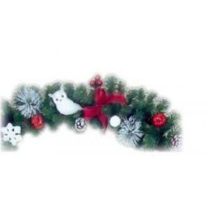 giocoplast ghirlanda decorativa con gufo bianco 170cm 308 11763 30811763