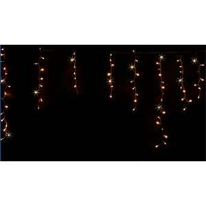 giocoplast giocoplast tenda sfalsata natalizia 144 led luce bianca calda con flash 14410299