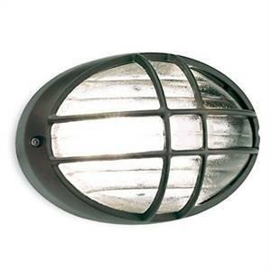sovil sovil plafoniera ovale con gabbia grigio 707/16