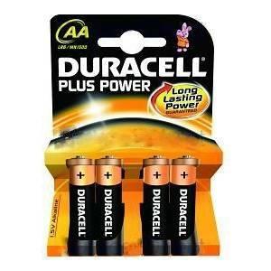 duracell plus power aa mn1500 4 batterie stilo