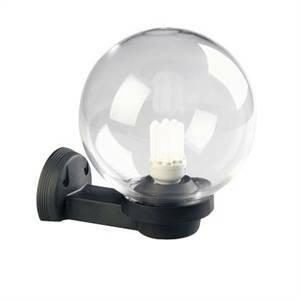 sovil sovil applique parete diametro 20 cm colore nero sfera chiara 360/06