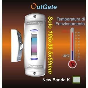 elettroservice rilevatore per esterno a doppia tecnologia smoutgate