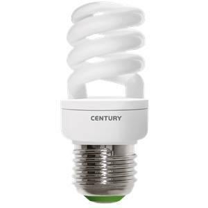 century lampadina spirale micro small 8w luce calda e27 dd4m-082727