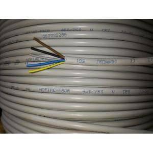 cavi al metro cavo nofire fror 5x1, 5 conduttori di sezione da 1 mm con giallo verde nofirefl-5gx1