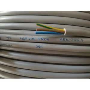 cavi al metro cavo nofire fror 450/750v 3 conduttori da 1 mm di sezione con giallo verde nofirefl-3gx1