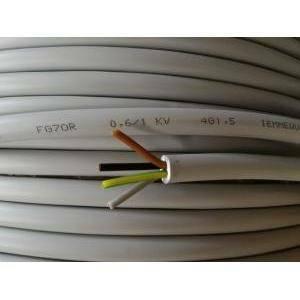 cavi cavo pvc isolato fg70r 4 conduttori da 1,5 mm di sezione con giallo verde al metro fg7-4gx1,5