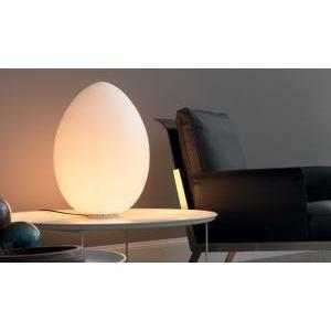 Fontanaarte Lampada Da Tavolo Uovo Grande 62cm Attacco E27 100w 2646