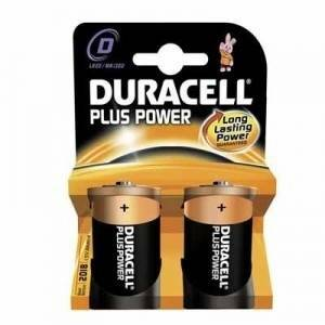 duracell plus power blister 2 torce 1,5v d mn1300