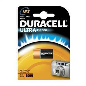duracell ultra m3 batteria al litio 3v per fotocamere dl123a
