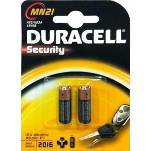 duracell security blister 2 batterie per dispositivi allarme mn21bl/b2