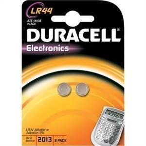duracell electronics 2 pile bottone alcaline 1,5v per calcolatrici lr44
