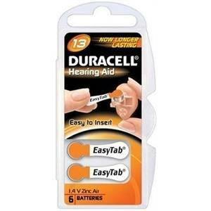 duracell duracell blister 6 pile per apparecchi acustici 1,4v da13